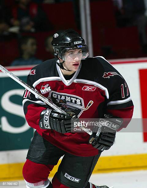 Gilbert Brule of the Vancouver Giants skates against the Prince George Cougars during the Western Hockey League game at Pacific Coliseum on October...