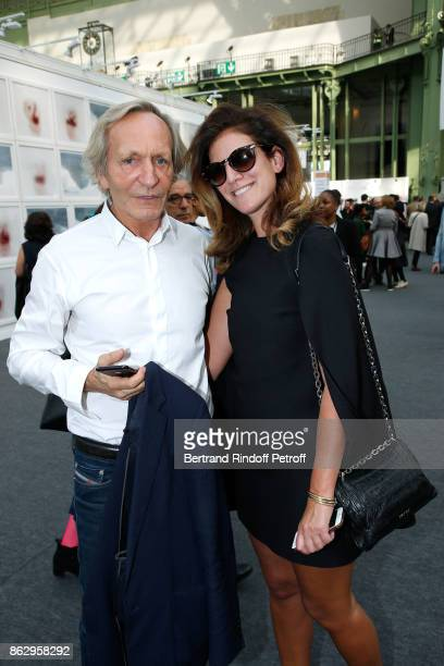 Gilbert Costes and Nicki Spielberg attend the FIAC 2017 International Contemporary Art Fair Press Preview at Le Grand Palais on October 18 2017 in...