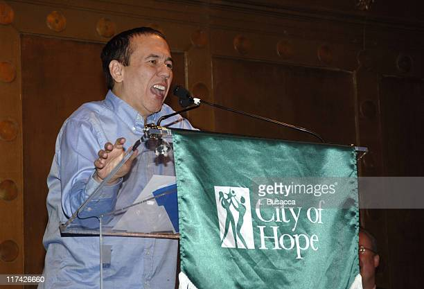 Gilbert Godfried speaks as music's biggest hitmakers and stars come out to honor one of their own legendary music executive Richard Palmese at the...