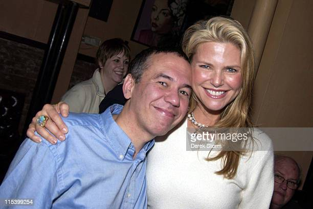 Gilbert Gottfried and Christie Brinkley during Alexa Ray Joel and Richie Cannata's Open Jam at The Cutting Room in New York City December 19 2005 at...