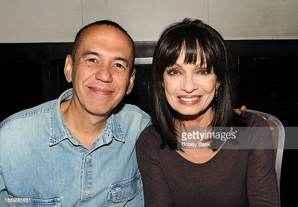 Gilbert Gottfried and Karen Valentine attends the Chiller Theatre Expo at Sheraton Parsippany Hotel on October 26 2013 in Parsippany New Jersey