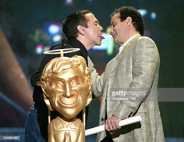 Gilbert Gottfried and Tony Shalhoub present the award for Funniest New Series of the Year