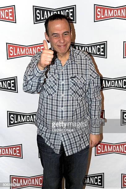 Gilbert Gottfried attends the Slamdance Film Festival World Premiere Of 'Director's Cut' Photo Call at Treasure Mountain Inn on January 22 2016 in...