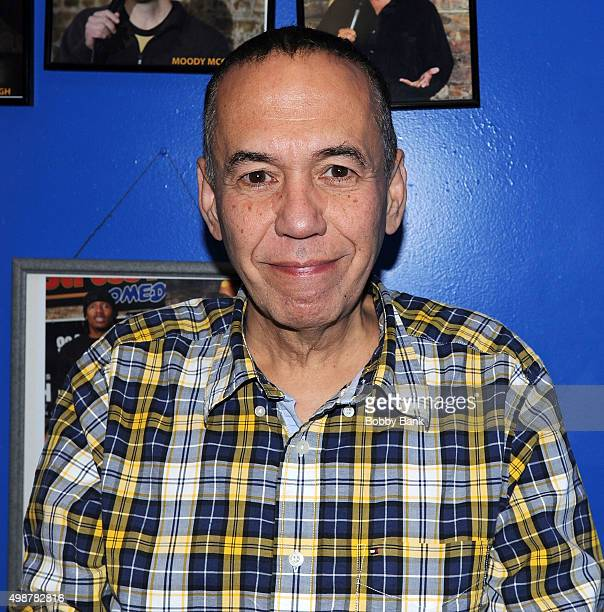 Gilbert Gottfried backstage at The Stress Factory Comedy Club on November 25 2015 in New Brunswick New Jersey