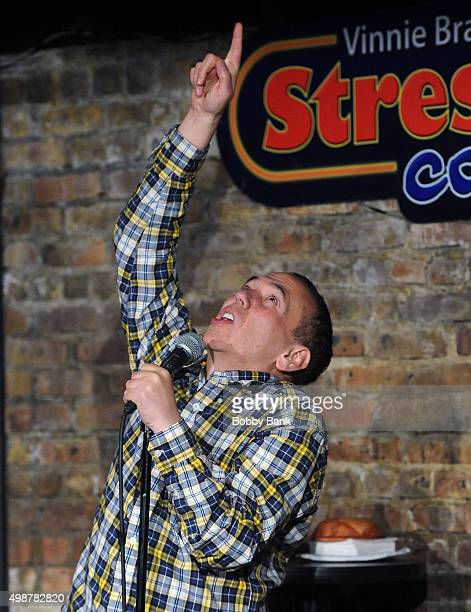 Gilbert Gottfried performs at The Stress Factory Comedy Club on November 25 2015 in New Brunswick New Jersey