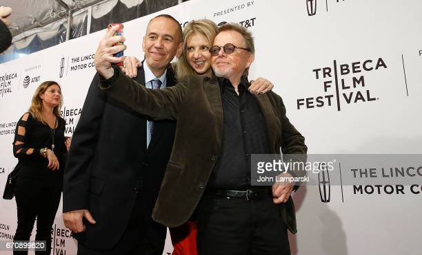 Gilbert Gottfried Tracey Jackson and Paul Williams attend Gilbert during the 2017 Tribeca Film Festival at SVA Theatre on April 20 2017 in New York...