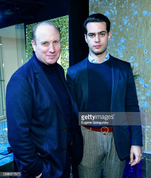 Gilbert Holmes and Manuel GrandeBoggio attend the Andrea Bocelli Foundation Lillian Gorbachincky Present First Annual Luncheon at AD Building on...