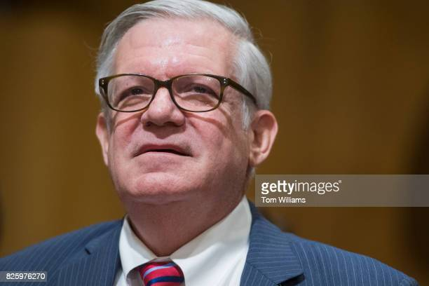 Gilbert Kaplan nominee to be Commerce under secretary for international trade arrives for his Senate Finance Committee confirmation hearing in...