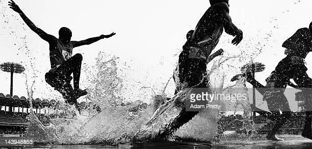 Gilbert Kirui of Kenya in action in the mens 3000m steeple chase during the Seiko Golden Grand Prix In Kawasaki at Todoroki Stadium on May 6 2012 in...