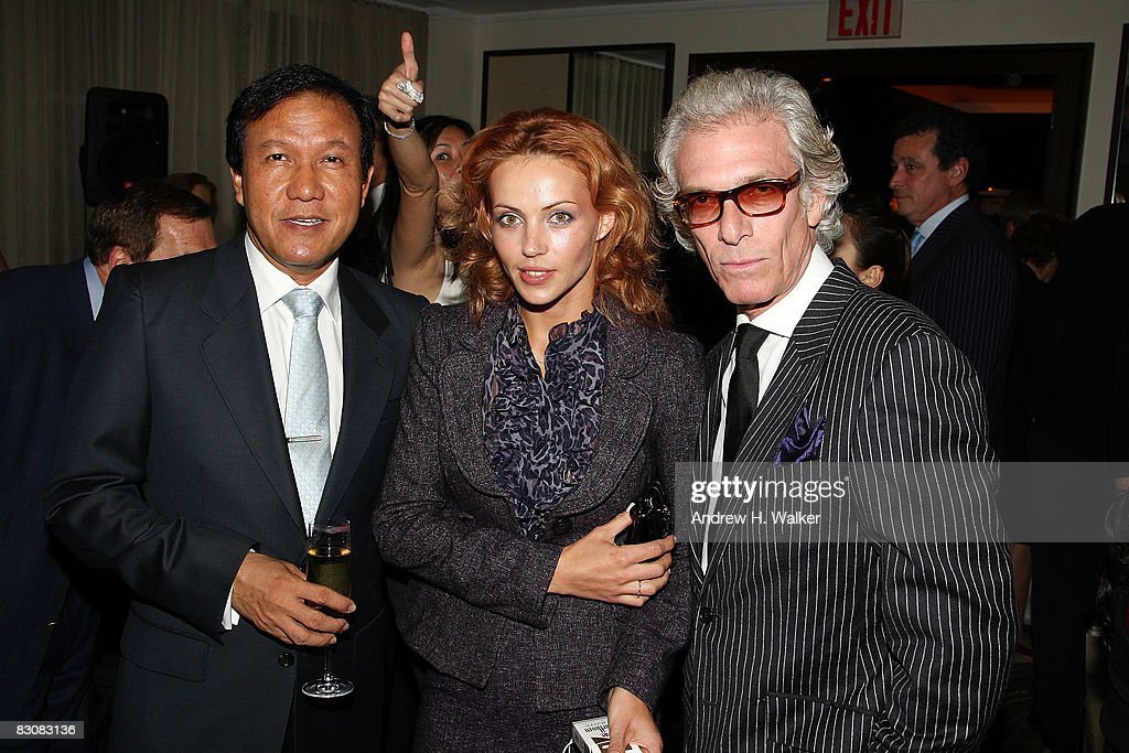 Gilbert Madhavan, Helen Schwartz and Ben Chasin attend the Raffles Hotels & Resorts and Elite Traveler Celebration of the Latest in Luxury Travel on October 1, 2008 at Daniel in New York City.