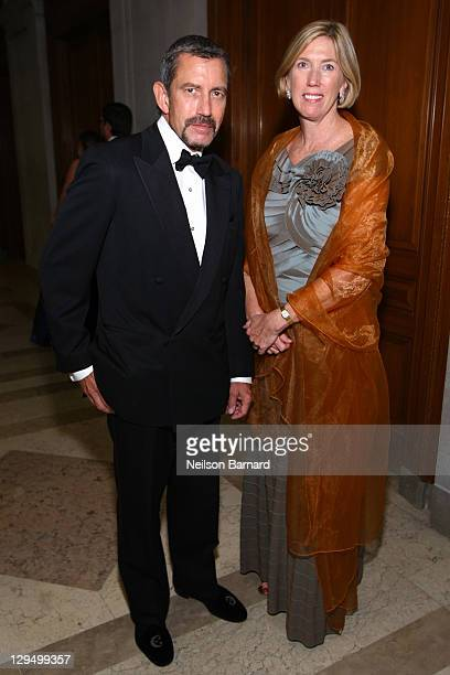 Gilbert Meister and Doris Meister attend the 2011 Frick Collection Autumn Dinner Honoring Anne L Poulet at The Frick Collection on October 17 2011 in...