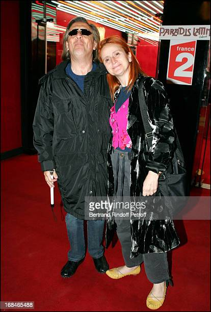 Gilbert Montagne and wife at Dalida TV Film Tribute To The Singer