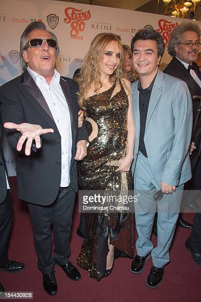 Gilbert Montagne Jeanne Mas and Thomas Langmann attend the 'Stars 80' Film Premiere at Le Grand Rex on October 19 2012 in Paris France