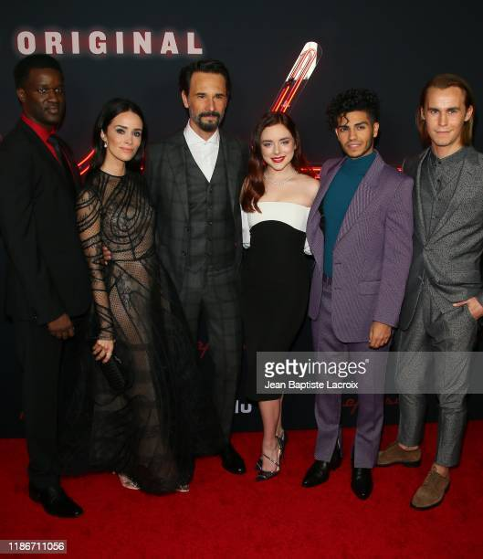 Gilbert Owuor Abigail Spencer Rodrigo Santoro Madison Davenport Mena Massoud and Rhys Wakerfield attend the premiere of Hulu's Reprisal Season One at...