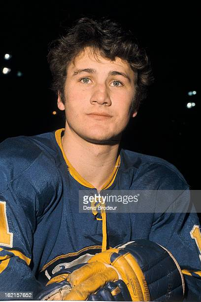Gilbert Perreault of the Buffalo Sabres poses for a photo Circa 1970 at the Montreal Forum in Montreal Quebec Canada