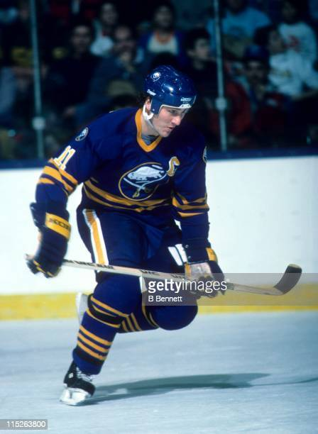 Gilbert Perreault of the Buffalo Sabres skates on the ice during an NHL game circa 1983