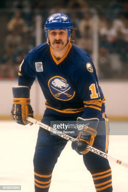 Gilbert Perreault of the Buffalo Sabres skates on the ice during an NHL game against the New York Islanders on October 13 1979 at the Nassau Coliseum...