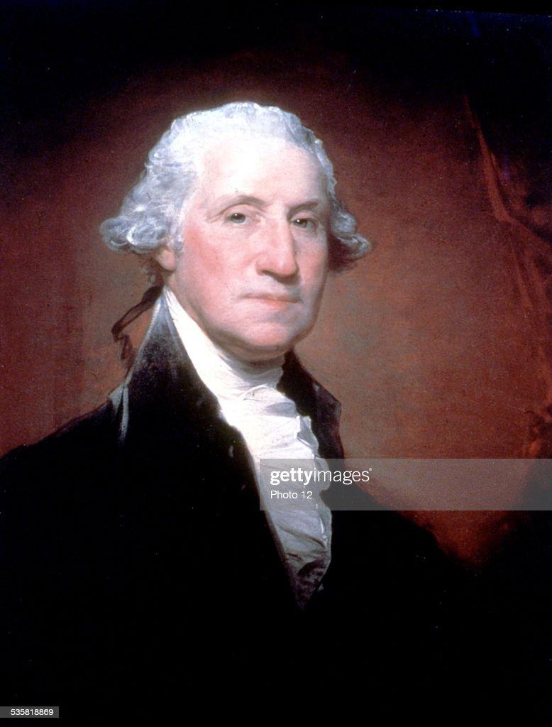 Gilbert Stuart, portrait of George Washington : News Photo