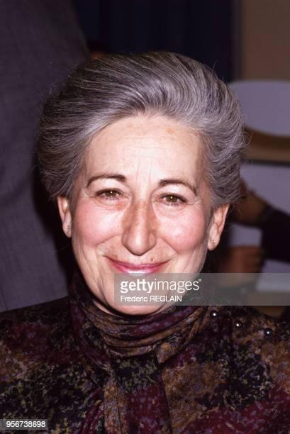 Gilberte Beaux femme d'affaires française à Paris le 10 février 1988 France