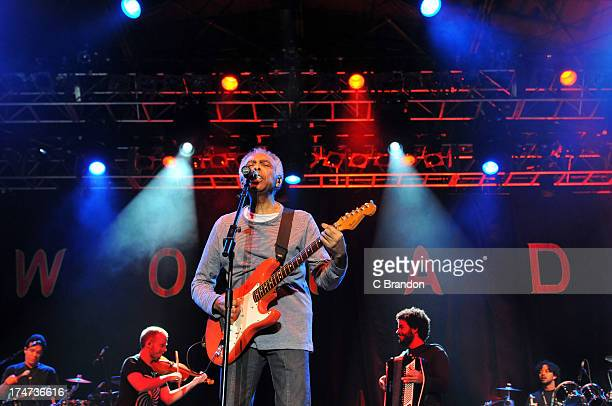 Gilberto Gil headlines on stage during Day 4 of the WOMAD Festival 2013 at Charlton Park on July 28 2013 in Wiltshire England