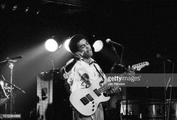 Gilberto Gil performing at Jazzhouse Montmartre Copenhagen 1987 Brazilian singer guitarist and composer