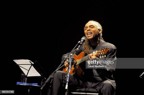 Gilberto Gil performs during the London Jazz Festival at The Barbican on November 19 2009 in London England