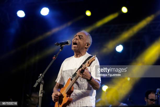 Gilberto Gil performs his Refavela 40 years during Festival Bananada at Passeio das Águas on May 11 2018 in Goiania Brazil