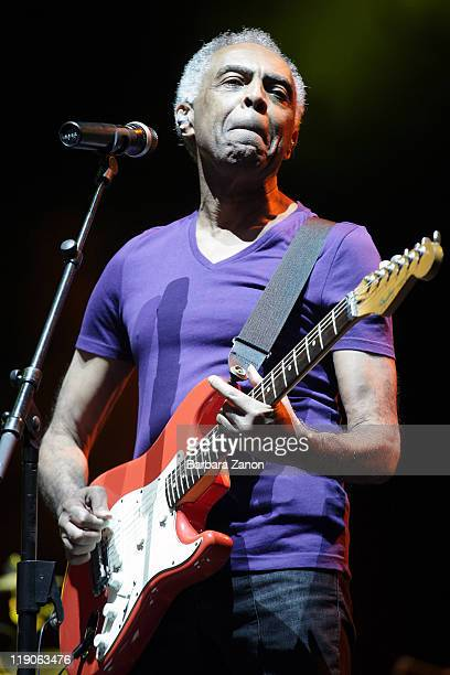 Gilberto Gil performs on stage at Arena Santa Giuliana during Umbria Jazz Festival on July 14 2011 in Perugia Italy