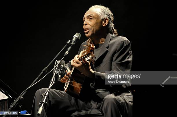 Gilberto Gil performs on stage at Royal Festival Hall as part of the London Jazz Festival 2009 on November 19 2009 in London England