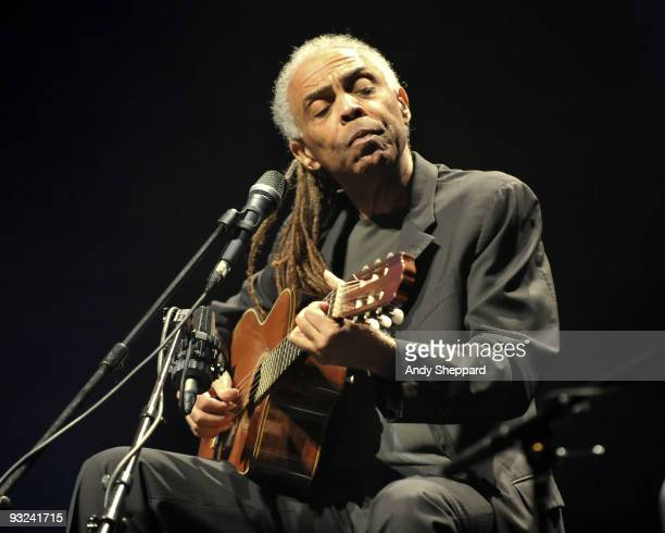 Gilberto Gil performs on stage at Royal Festival Hall as part of the London Jazz Festival 2009 on November 19, 2009 in London, England.