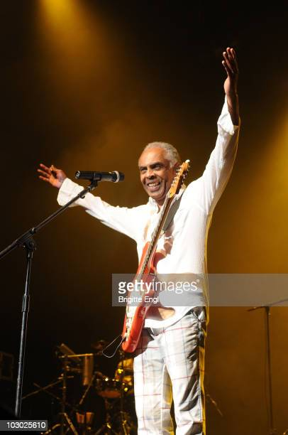 Gilberto Gil performs on stage during Festival Brazil at the Royal Festival Hall on July 21 2010 in London England