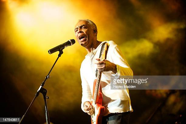 Gilberto Gil performs on stage during the final day of Back2black Festival at The Old Billingsgate on July 1 2012 in London United Kingdom