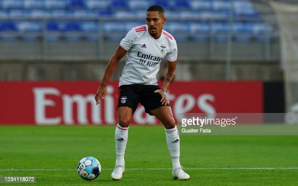 Gilberto of SL Benfica in action during the Pre-Season Friendly match between SL Benfica and Lille at Estadio Algarve on July 22, 2021 in Loule,...