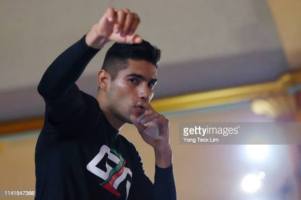 Gilberto Ramirez works out at Ukrainian Cultural Center on April 09 2019 in Los Angeles California