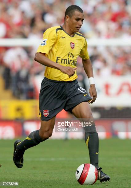 Gilberto Silva of Arsenal in action during the Barclays Premiership match between Charlton Athletic and Arsenal at The Valley on September 30 2006 in...