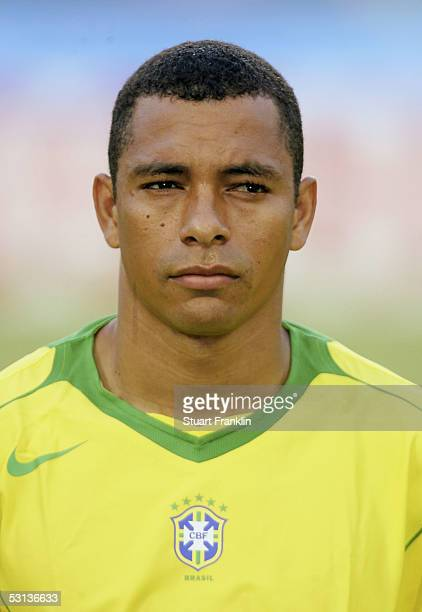 Gilberto Silva of Brazil at The FIFA Confederations Cup Match between Japan and Brazil at The Rhein Energy Stadium on June 22 2005 in Cologne Germany