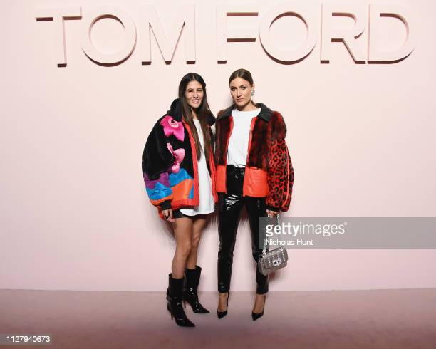 Gilda Ambrosio and Giorgia Tordini attend the Tom Ford FW 2019 Arrivals New York Fashion Week The Shows on February 06 2019 in New York City