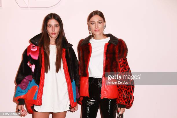 Gilda Ambrosio and Giorgia Tordini attend Tom Ford FW19 Fashion Show at Park Avenue Armory on February 06 2019 in New York City