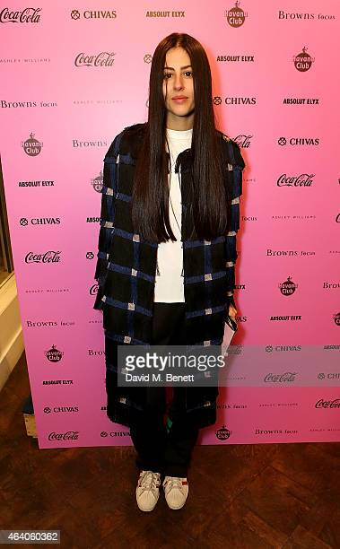 Gilda Ambrosio attends as Browns Focus CocaCola host an exclusive London Fashion week Party to celebrate hot new design talent Ashley Williams on...