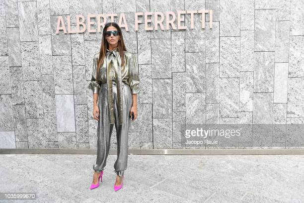 Gilda Ambrosio attends the Alberta Ferretti show during Milan Fashion Week Spring/Summer 2019 on September 19 2018 in Milan Italy