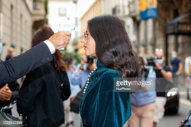 Gilda Ambrosio attends the Etro fashion show during Milan Digital Fashion Week on July 15 2020 in Milan Italy