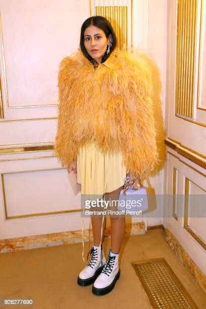 Gilda Ambrosio attends the Nina Ricci show as part of the Paris Fashion Week Womenswear Fall/Winter 2018/2019 on March 2 2018 in Paris France