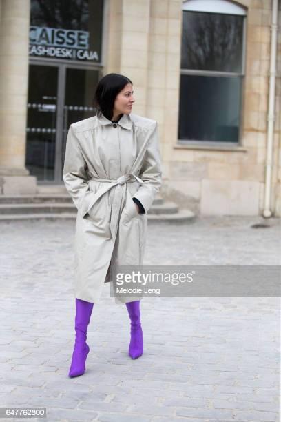 Gilda Ambrosio in Balenciaga outside the Dior show on March 3 2017 in Paris France
