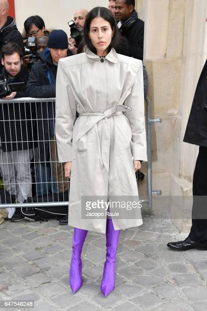 Gilda Ambrosio is seen arriving at Dior fashion show during the Paris Fashion Week Womenswear Fall/Winter 2017/2018 on March 3 2017 in Paris France