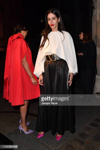 Gilda Ambrosio is seen arriving at Valentino fashion show during Paris Fashion Week Haute Couture Spring Summer 2020 on January 23 2019 in Paris...