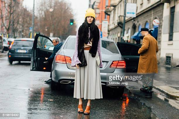 Gilda Ambrosio of The Attico after the Marni show during Milan Fashion Week Fall/Winter 2016/17 on February 28 2016 in Milan Italy