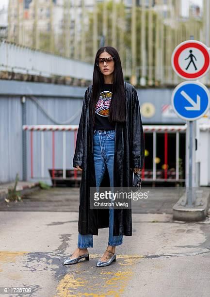Gilda Ambrosio outside Loewe on September 30 2016 in Paris France