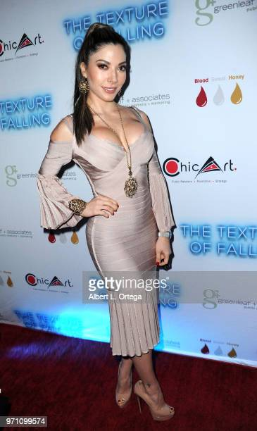 Gilda Garza arrives for Maria Allred's The Texture Of Falling held at The Ricardo Montalban Theatre on June 9 2018 in Hollywood California