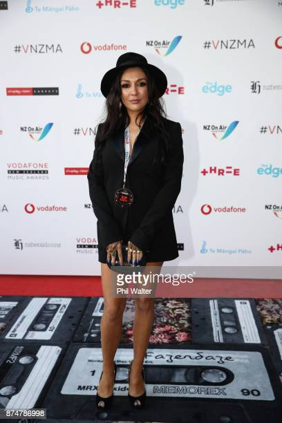 Gilda Kirkpatrick arrives for the 2017 Vodafone New Zealand Music Awards on November 16 2017 in Auckland New Zealand