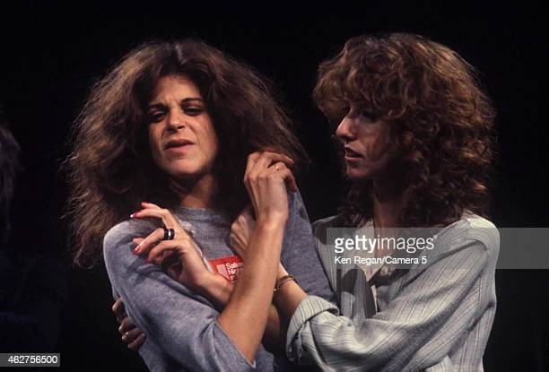 Gilda Radner and Laraine Newman photographed on the set of Saturday Night Live in 1978 in New York City CREDIT MUST READ Ken Regan/Camera 5 via...